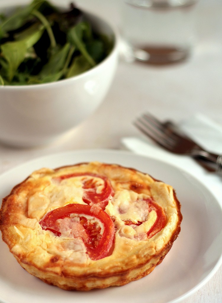 quiche de tomate y parmesano