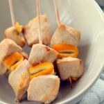 brocheta de pollo a la naranja