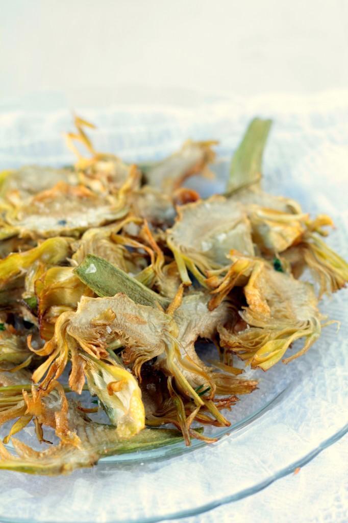 chips de alcachofas