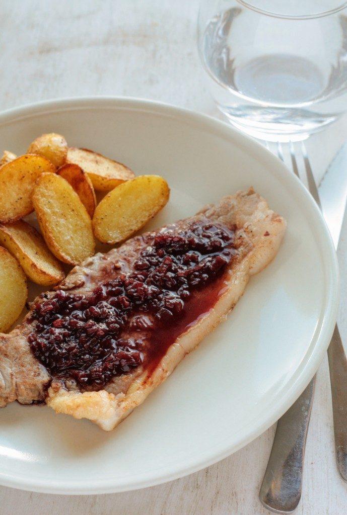 bistec con salsa de oporto