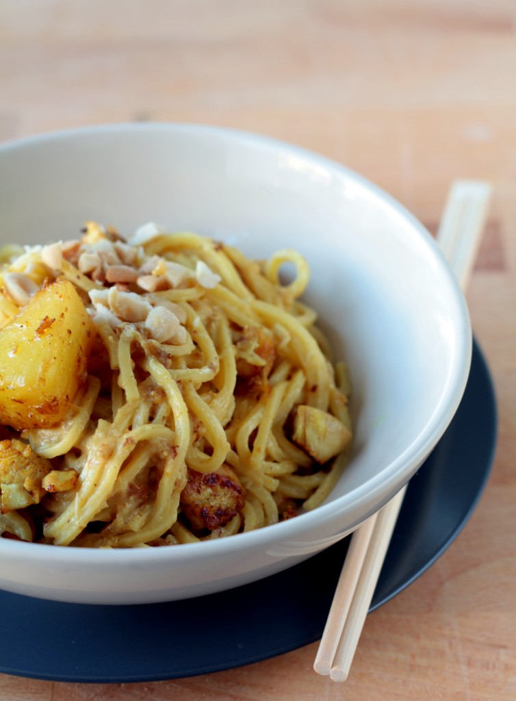 pasta con piña y curry - cocina para emancipados