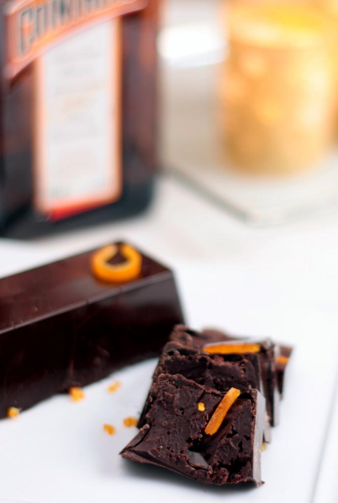 turrón de chocolate y cointreau