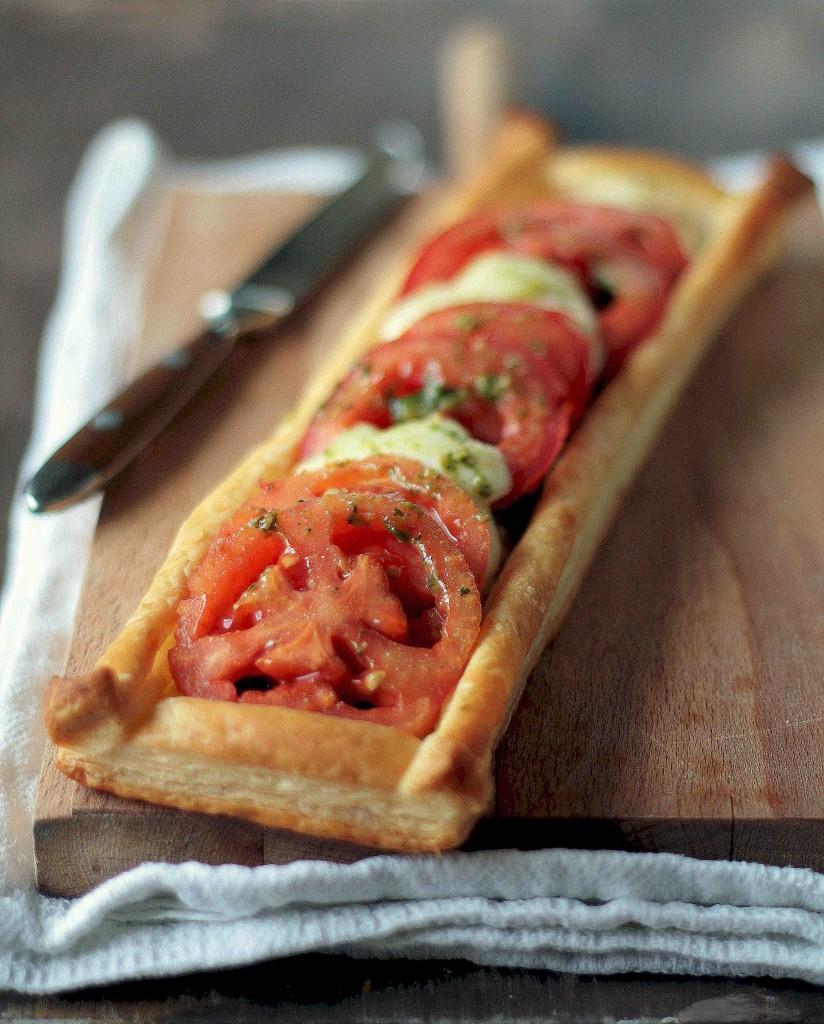 tarta de tomate y mozzarella