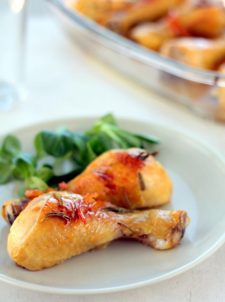 pollo a la naranja y al romero - cocina para emancipados