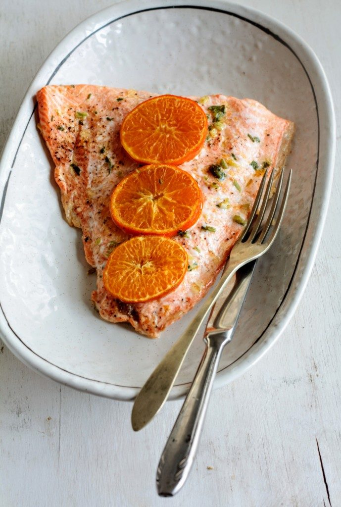 salmón a la mandarina